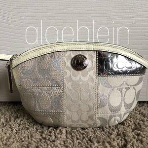 Coach Signature Patchwork Cosmetics Bag 42480